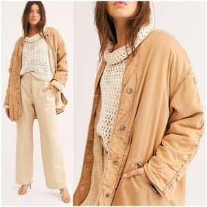 FREE PEOPLE Ivy Jacket Reversible Sherpa Utility M